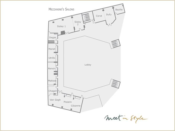Salons Mezzanine Plan